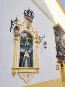 Farol Calatrava y corona. Hermandad del Museo