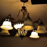lámparas de hierro forjado antiguas
